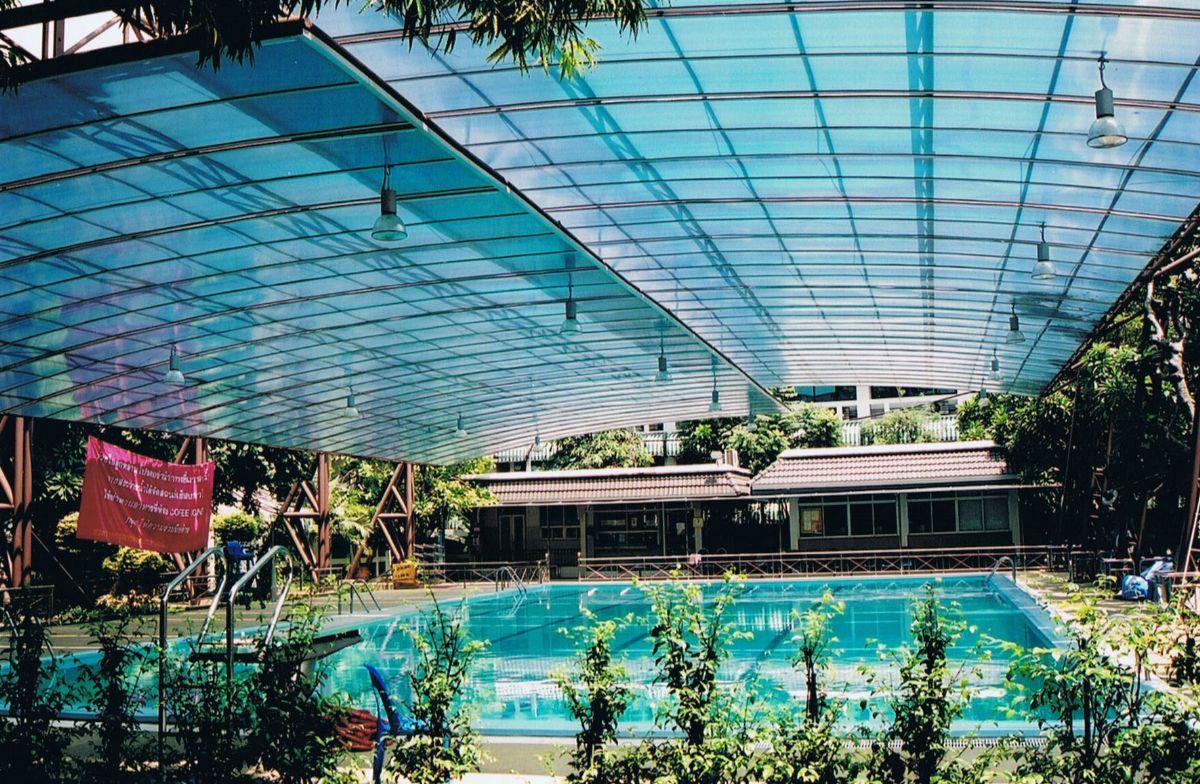 Mái nhựa,mái bể bơi